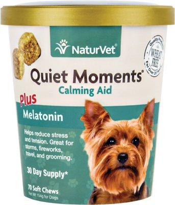 NaturVet Quiet Moments Calming Aid Dog Soft Chews, 70-count