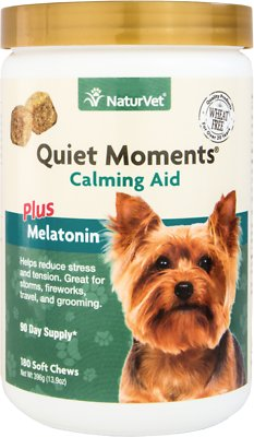 NaturVet Quiet Moments Calming Aid Dog Soft Chews, 180-count