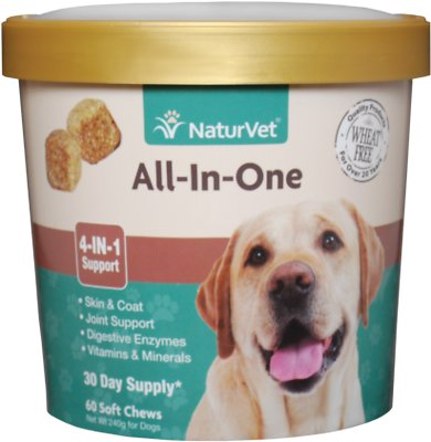 NaturVet All-In-One Soft Chews for Dogs, 60-count