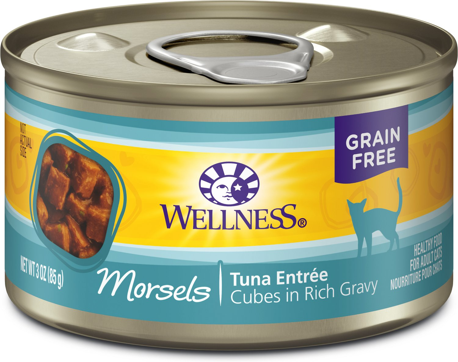 Wellness Complete Health Morsels Tuna Entree Canned Cat Food, 3-oz