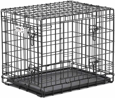 MidWest Contour Double Door Dog Crate, 24-in