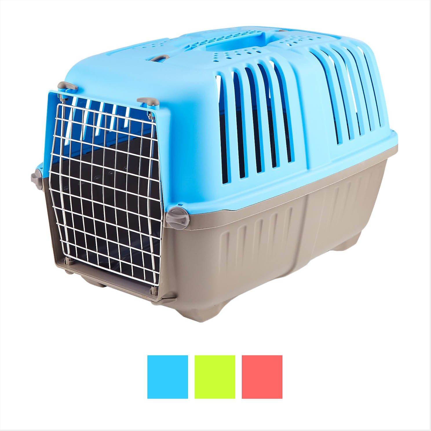 MidWest Spree Plastic Pet Carrier, Blue Image