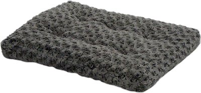 MidWest Quiet Time Ombre Swirl Dog & Cat Bed, Grey, 18-in