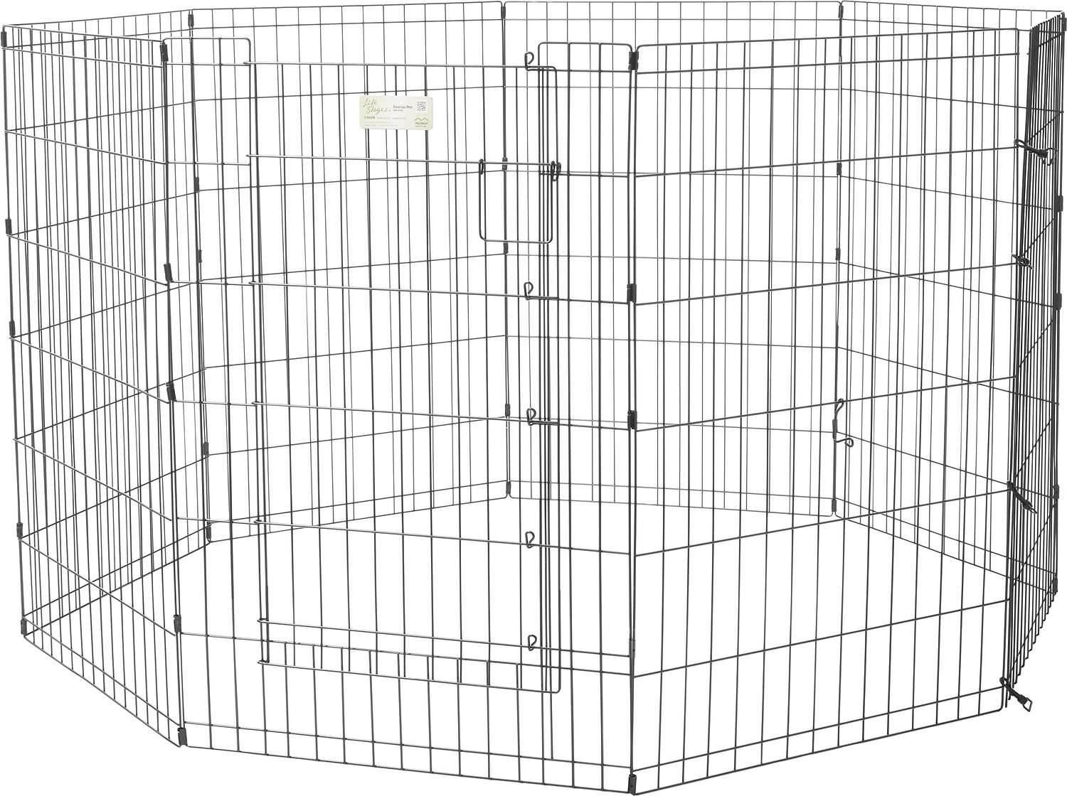 MidWest Exercise Pen with Full MAXLock Door, Black Image