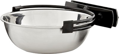 MidWest Stainless Steel Snap'y Fit Dog Kennel Bowl, 1.25 cup