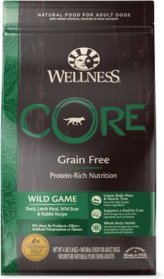 Wellness CORE Wild Game Grain-Free Dry Dog Food, 4-lb