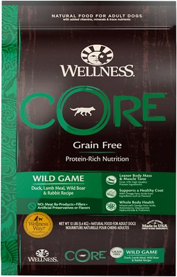 Wellness CORE Wild Game Grain-Free Dry Dog Food, 12-lb
