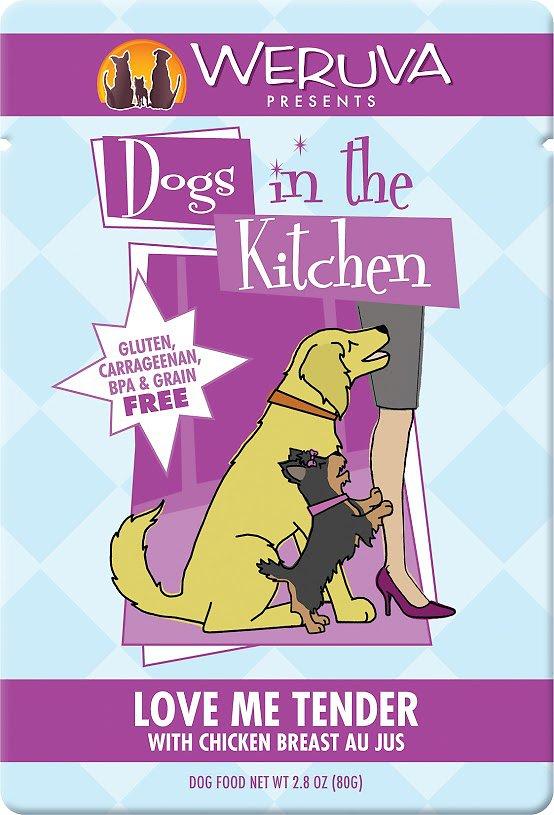 Weruva Dogs in the Kitchen Love Me Tender with Chicken Breast Au Jus Grain-Free Wet Dog Food, 2.8-oz, case of 12