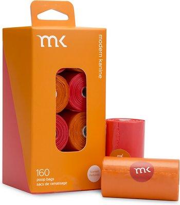 Modern Kanine Waste Bags, Orange & Coral, 160-count