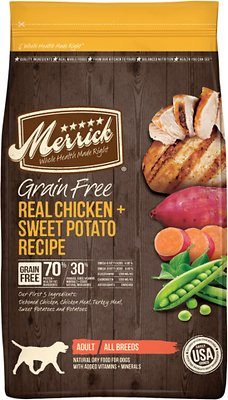 Merrick Grain-Free Real Chicken + Sweet Potato Recipe Dry Dog Food, 22-lb bag