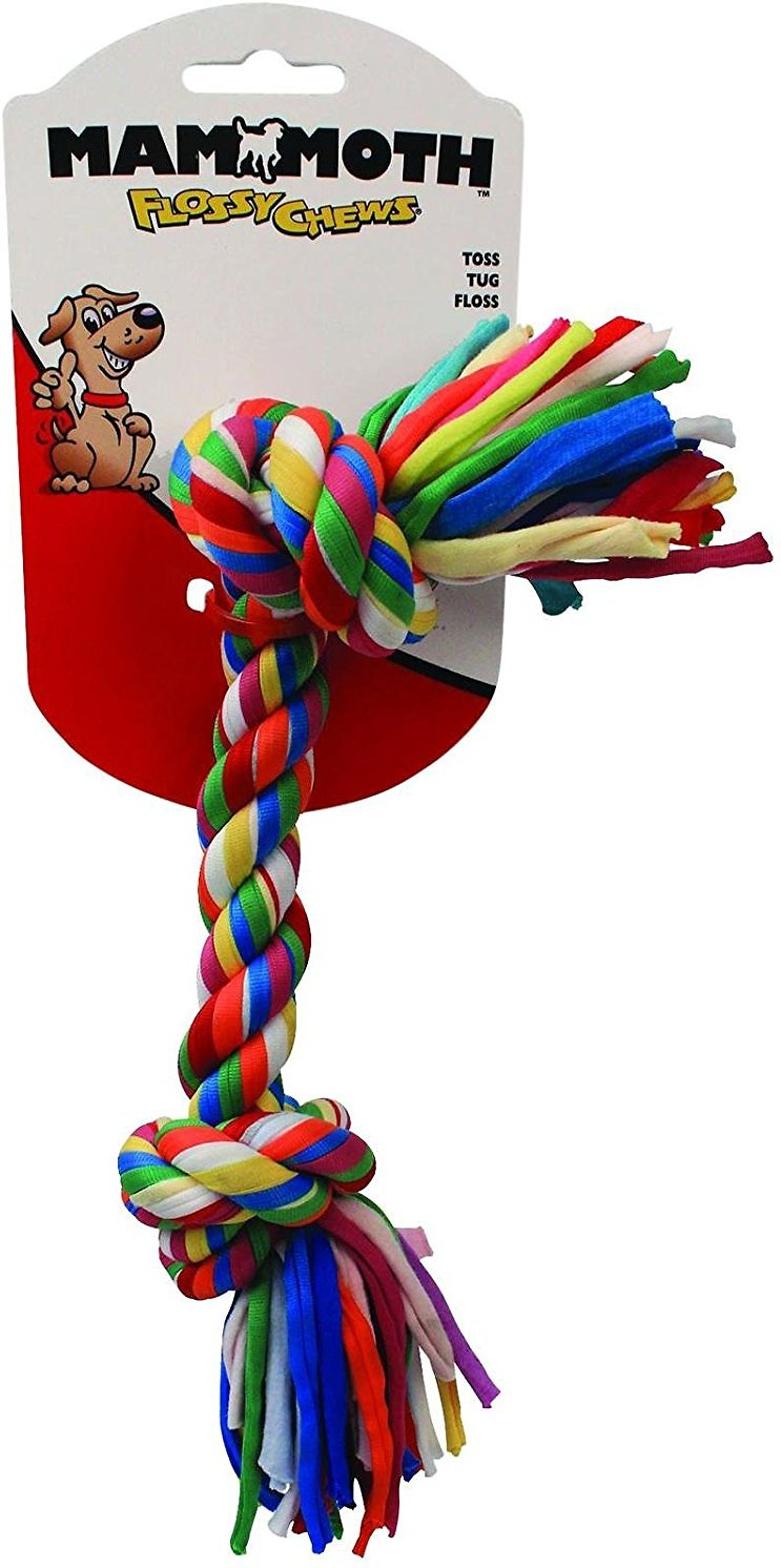 Mammoth Cloth Rope Bone Dog Toy, Color Varies Image
