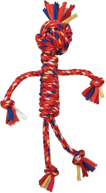 Mammoth Cloth Rope Man Dog Toy, Color Varies, Small