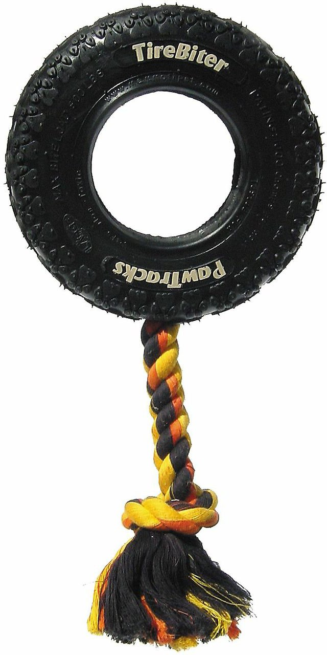 Mammoth TireBiter Tire & Rope Dog Toy Image