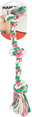 Mammoth Cottonblend 3 Knot Dog Rope Toy, Color Varies, Small
