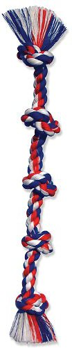 Mammoth Cottonblend 5 Knot Dog Rope Toy, Color Varies Image