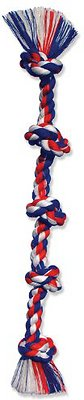 Mammoth Cottonblend 5 Knot Dog Rope Toy, Color Varies, XX-Large