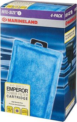 Marineland Bio-Wheel Emperor Rite-Size E Filter Cartridge, 4 count