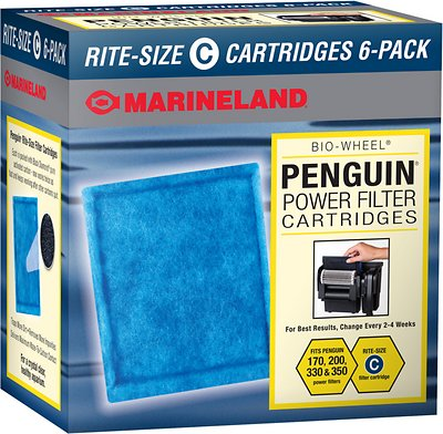 Marineland Bio-Wheel Penguin Rite-Size C Filter Cartridge, 6 count