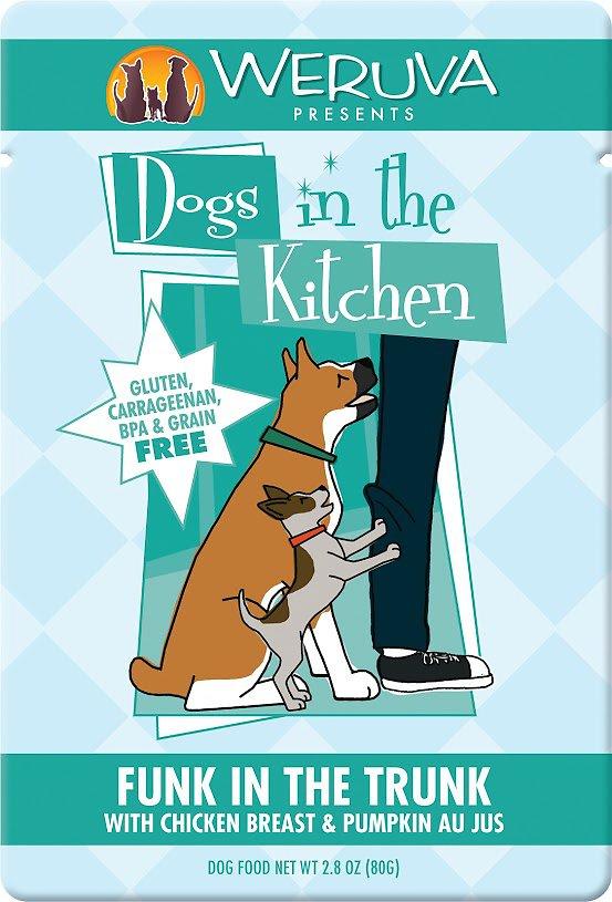 Weruva Dogs in the Kitchen Funk in the Trunk with Chicken Breast & Pumpkin Au Jus Grain-Free Wet Dog Food, 2.8-oz