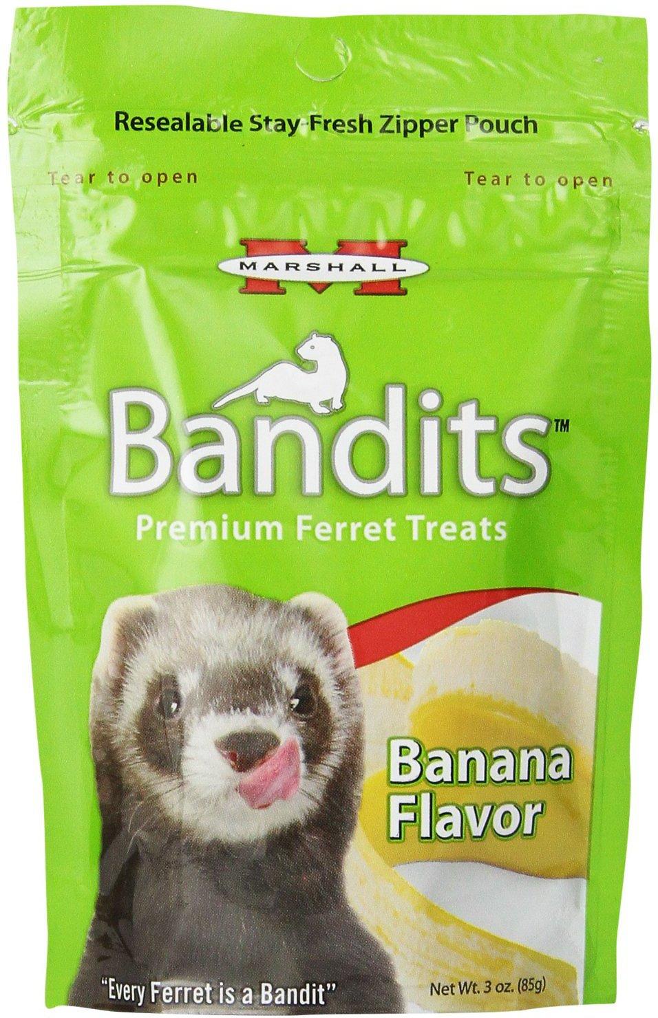 Marshall Bandits Premium Banana Flavor Ferret Treats, 3-oz bag Image