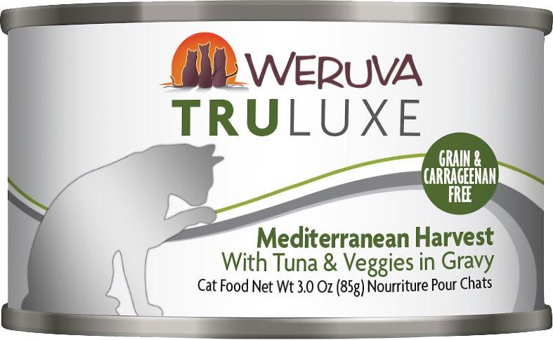 Weruva Cat Truluxe Mediterranean Harvest with Tuna & Veggies in Gravy Grain-Free Wet Cat Food, 3-oz