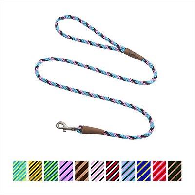 Mendota Pet Small Snap Striped Dog Leash, Starbright, 4-ft