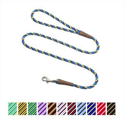 Mendota Pet Small Snap Striped Dog Leash, Sunset, 6-ft