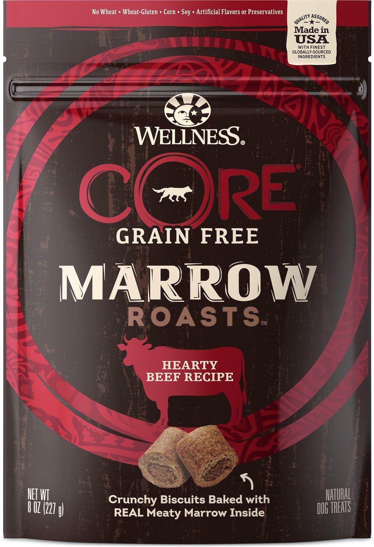 Wellness CORE Grain-Free Marrow Roasts Hearty Beef Dog Treats, 8-oz