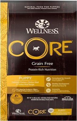 Wellness CORE Grain-Free Puppy Chicken & Turkey Dry Dog Food, 12-lb