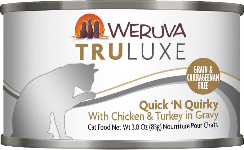 Weruva Cat Truluxe Quick 'N Quirky with Chicken & Turkey in Gravy Grain-Free Wet Cat Food, 3-oz