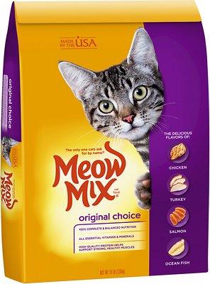 Meow Mix Original Choice Dry Cat Food, 16-lb bag