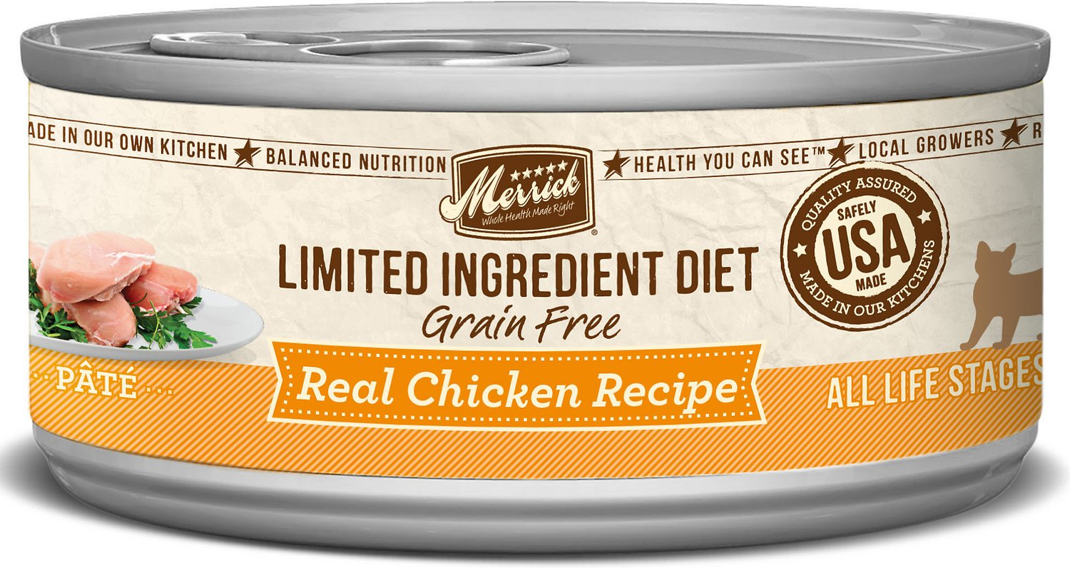 Merrick Limited Ingredient Diet Grain-Free Real Chicken Pate Recipe Canned Cat Food Image