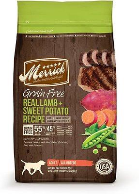 Merrick Grain-Free Real Lamb + Sweet Potato Recipe Dry Dog Food, 12-lb bag (original)
