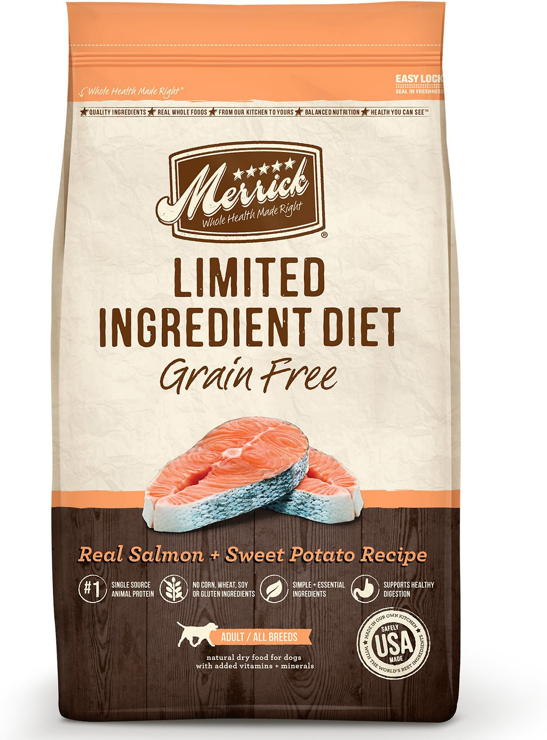 Merrick Limited Ingredient Diet Grain-Free Real Salmon + Sweet Potato Recipe Dry Dog Food Image