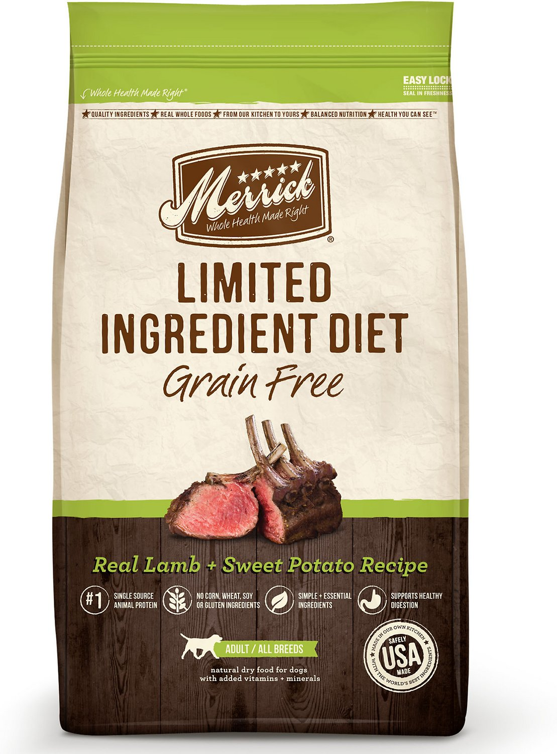 Merrick Limited Ingredient Diet Grain-Free Real Lamb + Sweet Potato Recipe Dry Dog Food Image