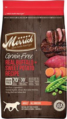 Merrick Grain-Free Real Buffalo + Sweet Potato Recipe Dry Dog Food, 12-lb bag
