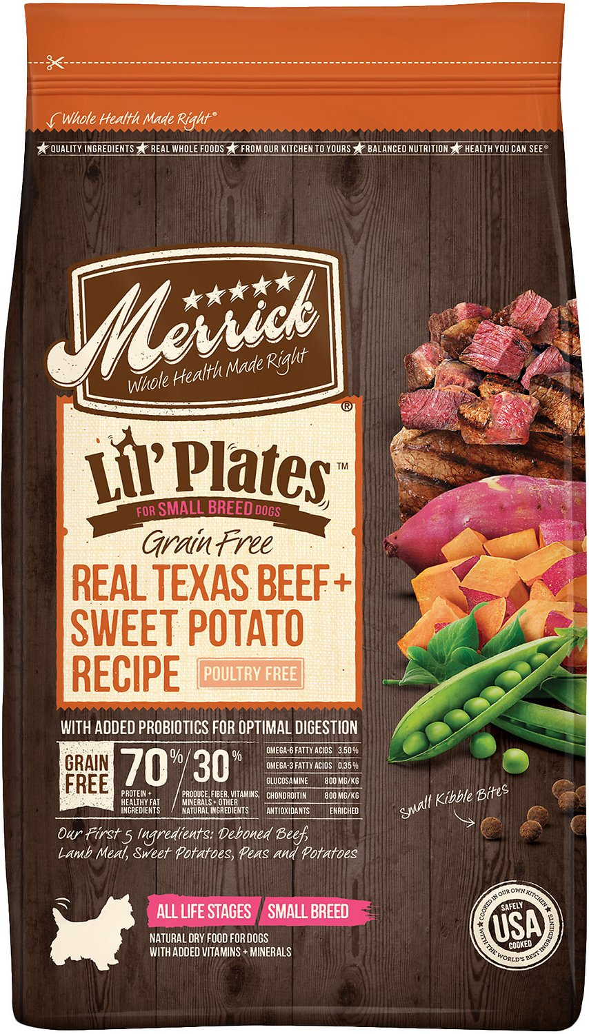 Merrick Lil' Plates Grain-Free Real Beef & Sweet Potato Dry Dog Food Image