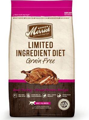 Merrick Limited Ingredient Diet Grain-Free Real Turkey + Sweet Potato Recipe Dry Dog Food, 12-lb bag