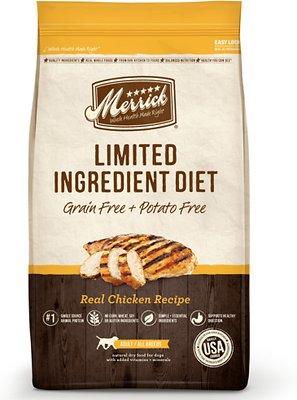 Merrick Limited Ingredient Diet Grain-Free Real Chicken Recipe Dry Dog Food, 22-lb bag