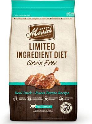Merrick Limited Ingredient Diet Grain-Free Real Duck + Sweet Potato Recipe Dry Dog Food, 22-lb bag