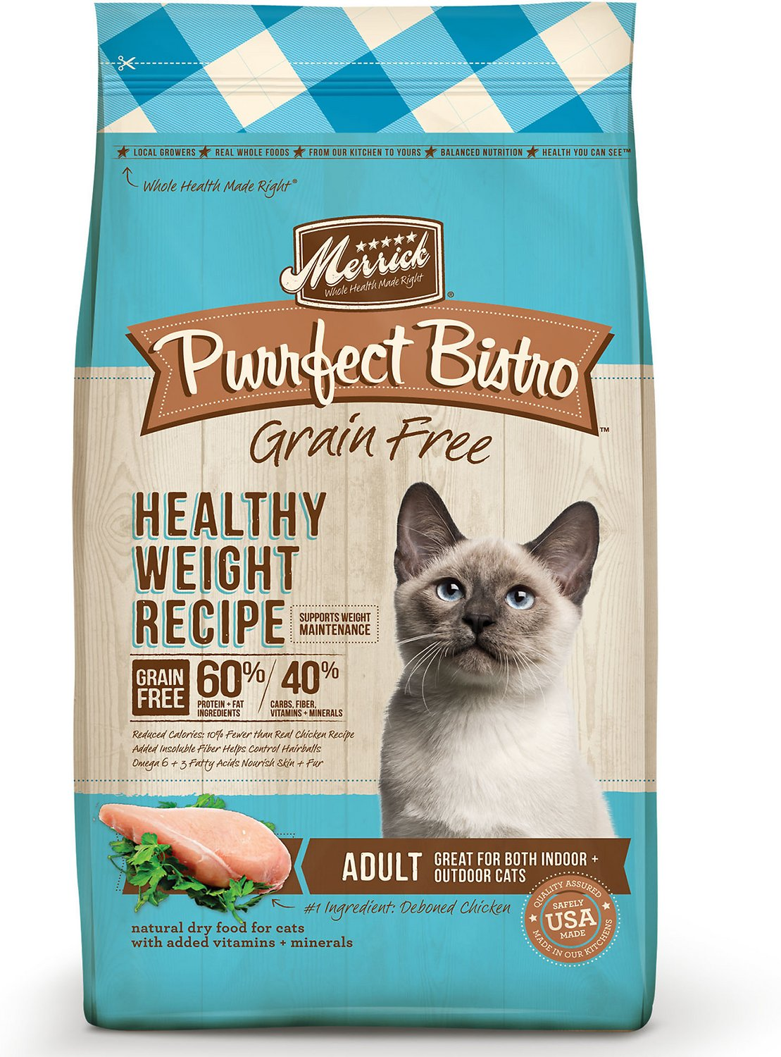 Merrick Purrfect Bistro Grain-Free Healthy Weight Recipe Dry Cat Food Image