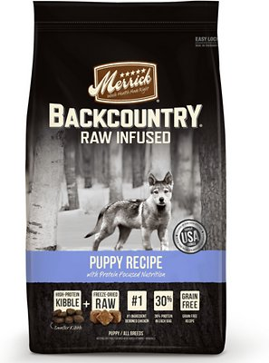 Merrick Backcountry Raw Infused Puppy Recipe Grain-Free Dry Dog Food, 4-lb bag