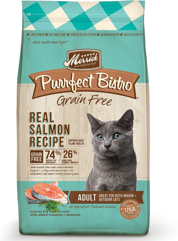 Merrick Purrfect Bistro Grain-Free Real Salmon Recipe Adult Dry Cat Food Image