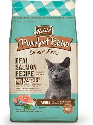 Merrick Purrfect Bistro Grain-Free Real Salmon Recipe Adult Dry Cat Food, 12-lb bag