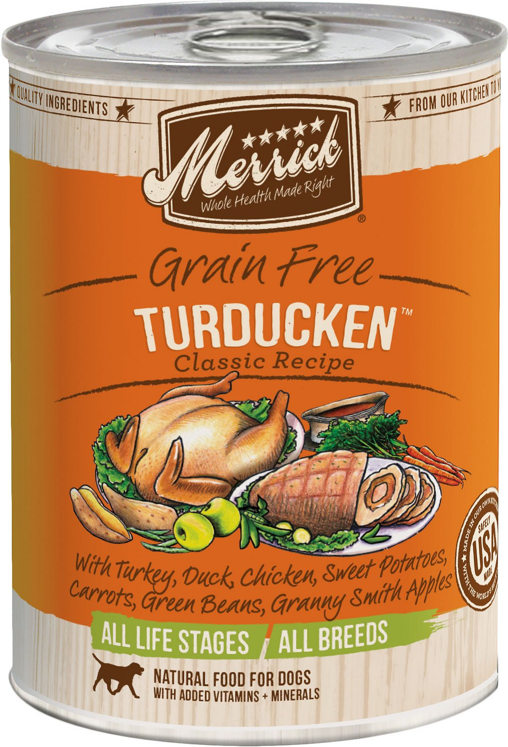 Merrick Grain-Free Turducken Recipe Canned Dog Food Image