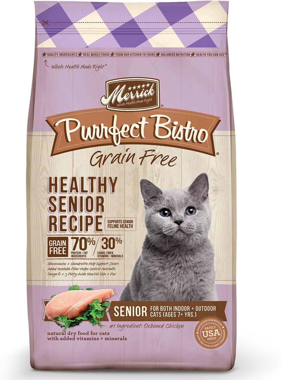 Merrick Purrfect Bistro Grain-Free Healthy Senior Recipe Dry Cat Food, 7-lb bag