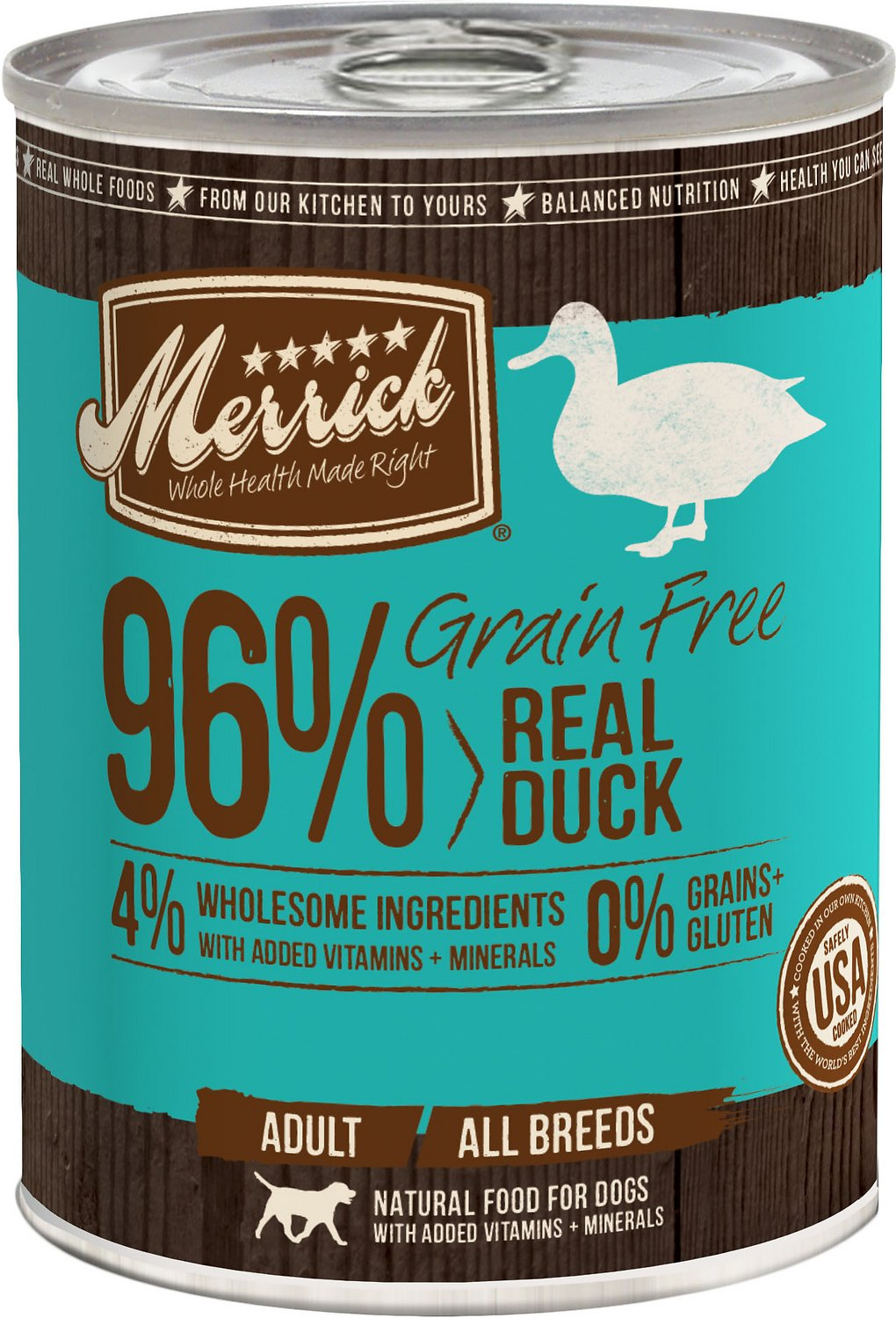 Merrick Grain-Free Real Duck Canned Dog Food Image
