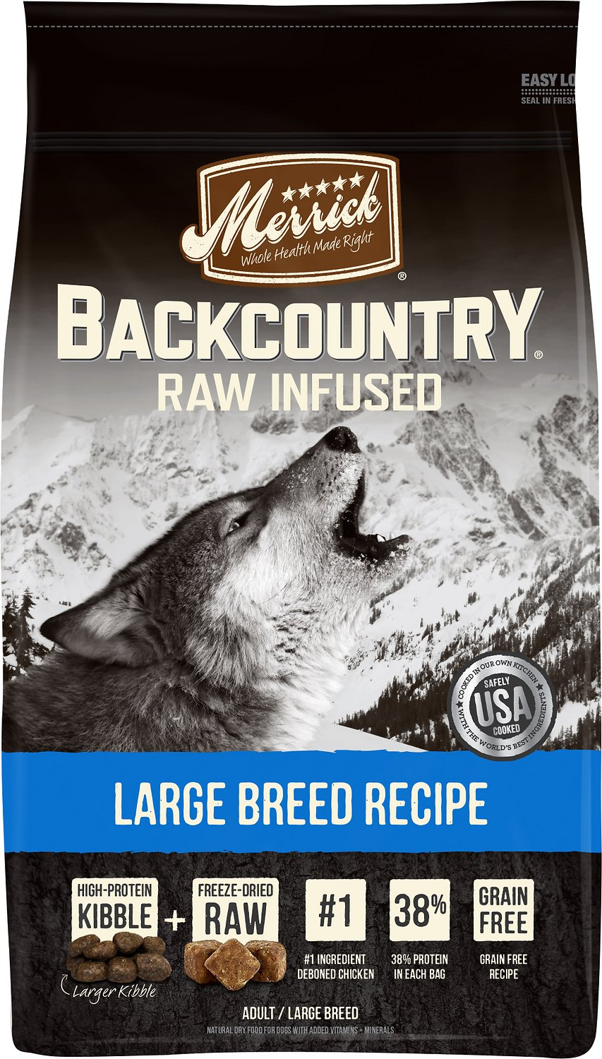 Merrick Backcountry Raw Infused Large Breed Recipe Dry Dog Food,20-lb