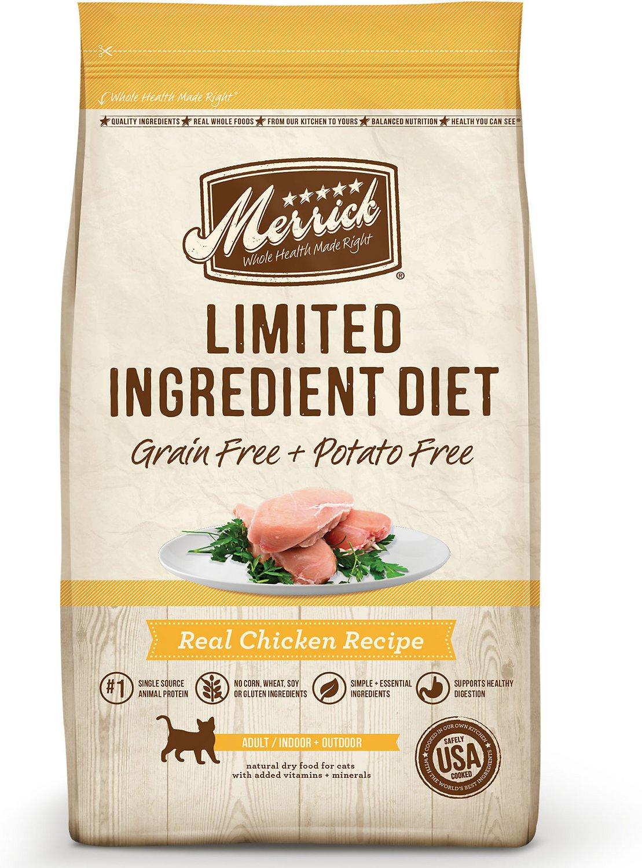 Merrick Limited Ingredient Diet Grain-Free Real Chicken Recipe Dry Cat Food Image