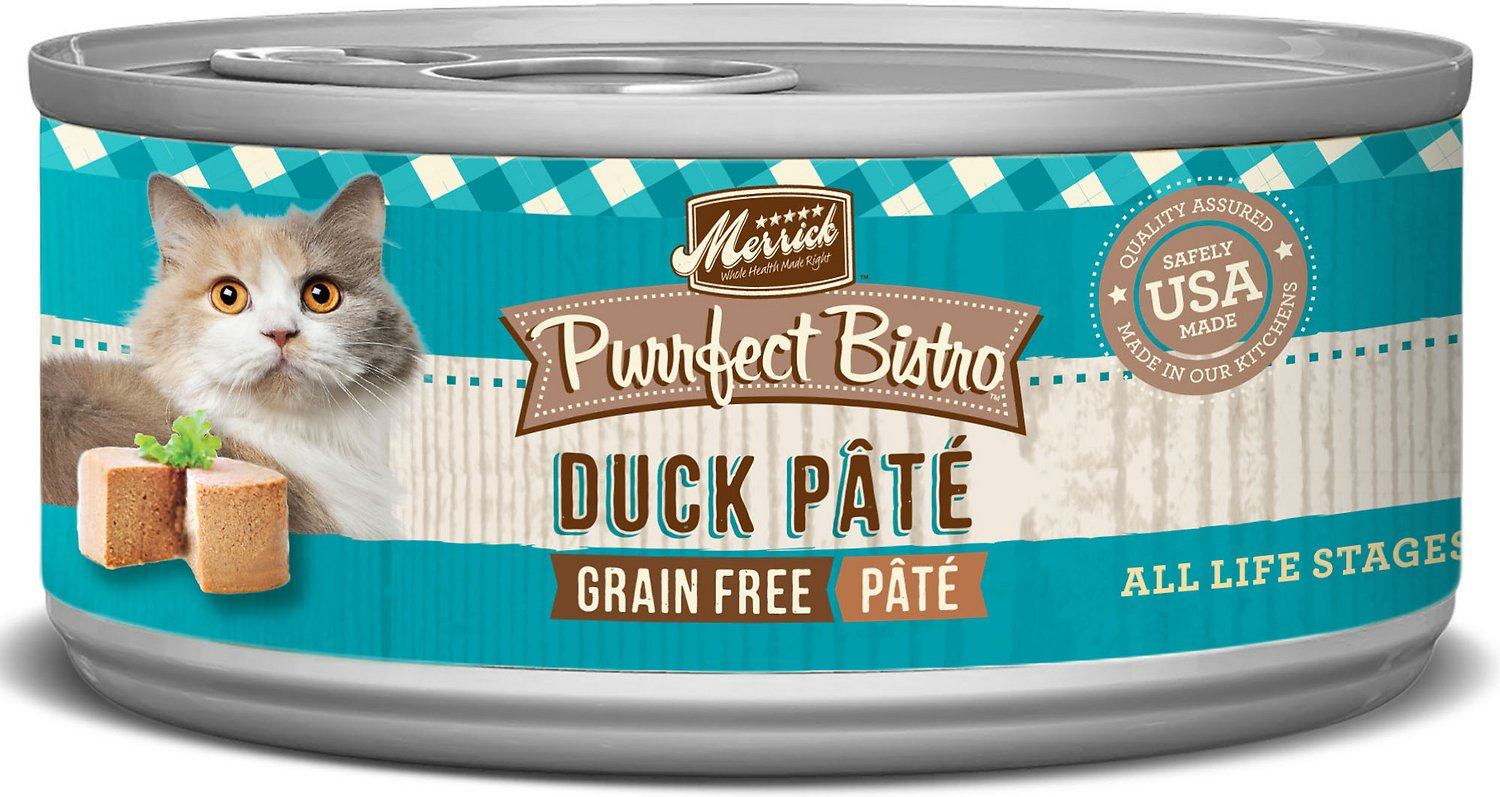 Merrick Purrfect Bistro Grain-Free Duck Pate Canned Cat Food, 5.5-oz